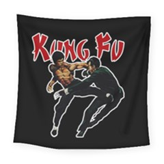 Kung Fu  Square Tapestry (Large)