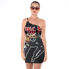 Kung Fu  One Soulder Bodycon Dress