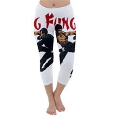 Kung Fu  Capri Winter Leggings