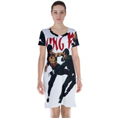 Kung Fu  Short Sleeve Nightdress