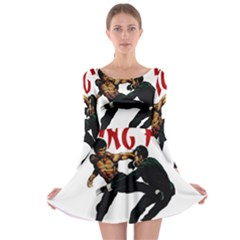 Kung Fu  Long Sleeve Skater Dress