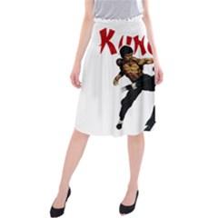 Kung Fu  Midi Beach Skirt