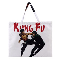 Kung Fu  Zipper Large Tote Bag