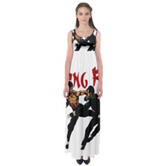 Kung Fu  Empire Waist Maxi Dress