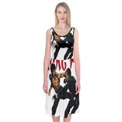 Kung Fu  Midi Sleeveless Dress