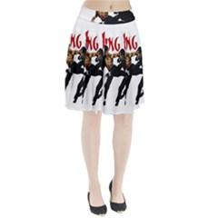 Kung Fu  Pleated Skirt