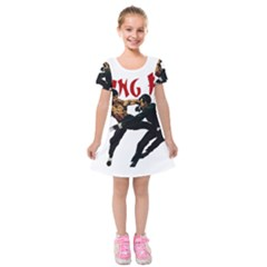 Kung Fu  Kids  Short Sleeve Velvet Dress