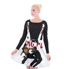 Kung Fu  Suspender Skater Skirt