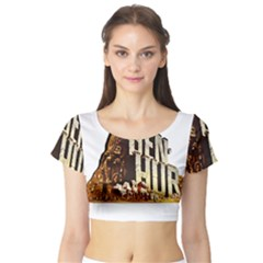 Ben Hur Short Sleeve Crop Top (Tight Fit)