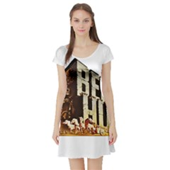 Ben Hur Short Sleeve Skater Dress