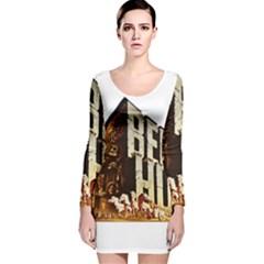 Ben Hur Long Sleeve Velvet Bodycon Dress
