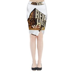 Ben Hur Midi Wrap Pencil Skirt