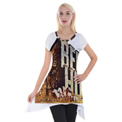 Ben Hur Short Sleeve Side Drop Tunic