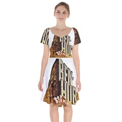 Ben Hur Short Sleeve Bardot Dress