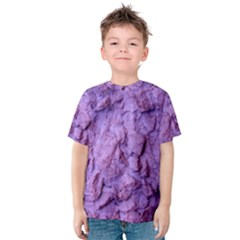 Purple Wall Background Kids  Cotton Tee