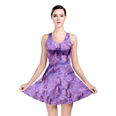 Purple Wall Background Reversible Skater Dress