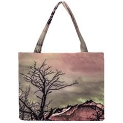 Fantasy Landscape Illustration Mini Tote Bag