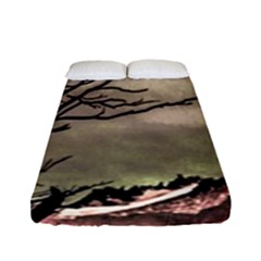 Fantasy Landscape Illustration Fitted Sheet (Full/ Double Size)