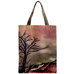 Fantasy Landscape Illustration Zipper Classic Tote Bag