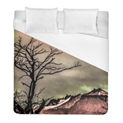 Fantasy Landscape Illustration Duvet Cover (Full/ Double Size)