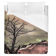 Fantasy Landscape Illustration Duvet Cover (Queen Size)