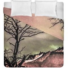 Fantasy Landscape Illustration Duvet Cover Double Side (King Size)