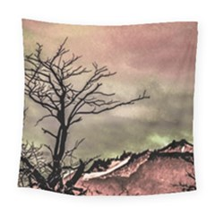 Fantasy Landscape Illustration Square Tapestry (Large)