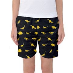 Dinosaurs pattern Women s Basketball Shorts