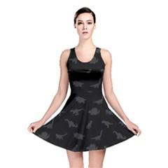 Dinosaurs pattern Reversible Skater Dress