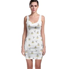 Cactus pattern Sleeveless Bodycon Dress