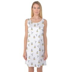 Cactus pattern Sleeveless Satin Nightdress