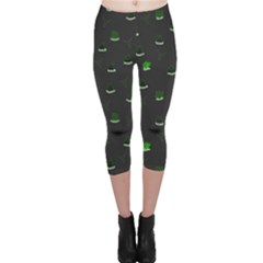 Cactus pattern Capri Leggings