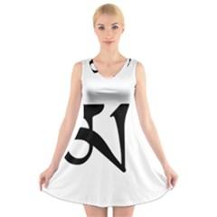 Thimphu  V-Neck Sleeveless Skater Dress