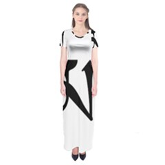 Thimphu  Short Sleeve Maxi Dress
