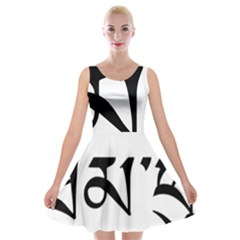 Thimphu  Velvet Skater Dress