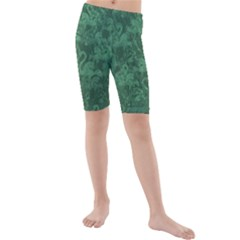 Flamingo pattern Kids  Mid Length Swim Shorts