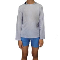 Akita Inu White Eyes Kids  Long Sleeve Swimwear