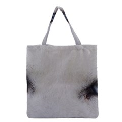 Akita Inu White Eyes Grocery Tote Bag