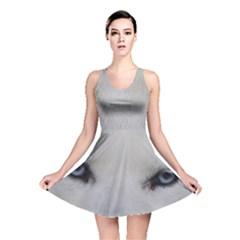 Akita Inu White Eyes Reversible Skater Dress