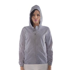 Akita Inu White Eyes Hooded Wind Breaker (Women)
