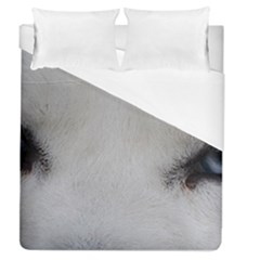 Akita Inu White Eyes Duvet Cover (Queen Size)