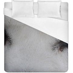 Akita Inu White Eyes Duvet Cover (King Size)