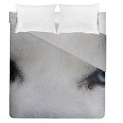 Akita Inu White Eyes Duvet Cover Double Side (Queen Size)