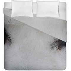 Akita Inu White Eyes Duvet Cover Double Side (King Size)