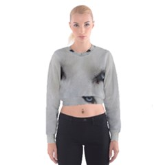 Akita Inu White Eyes Cropped Sweatshirt
