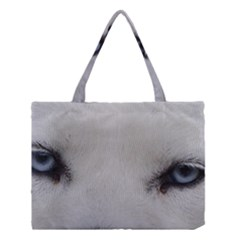 Akita Inu White Eyes Medium Tote Bag