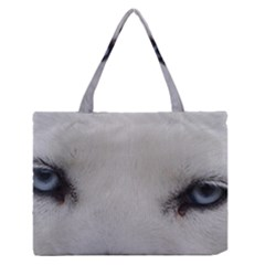 Akita Inu White Eyes Medium Zipper Tote Bag