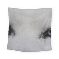 Akita Inu White Eyes Square Tapestry (Small)