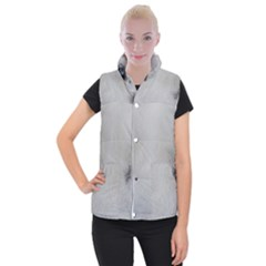 Akita Inu White Eyes Women s Button Up Puffer Vest