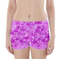Flamingo Pattern Boyleg Bikini Wrap Bottoms